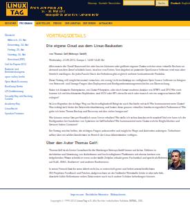 LinuxTag 2012 - Thomas Gelf, Die eigene Cloud aus dem Linux-Baukasten