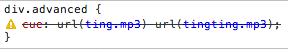 Kein tingting.mp3 für mich - nicht unterstützte Regeln zeigt Chrome netterweise an