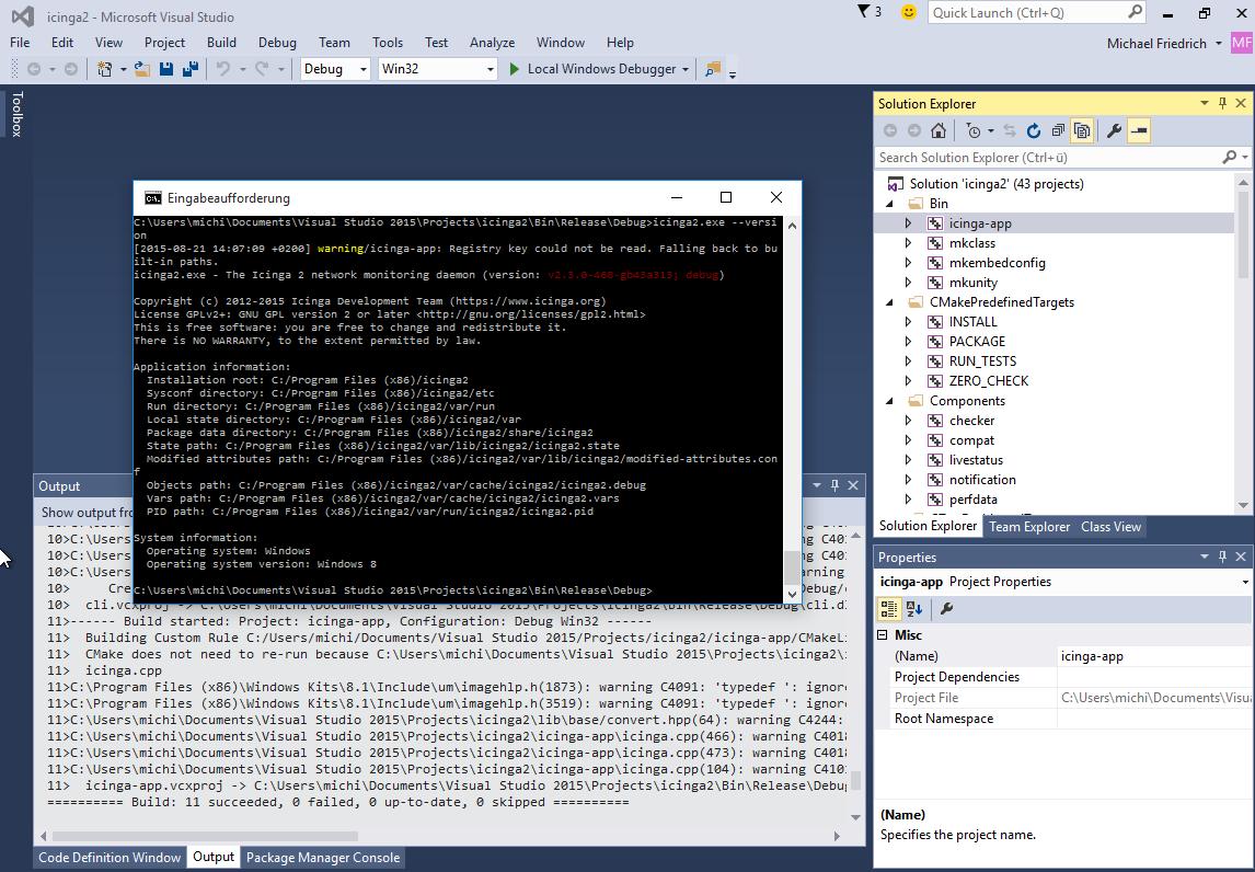 Developing Icinga 2 on Windows 10 using Visual Studio 2015 | NETWAYS