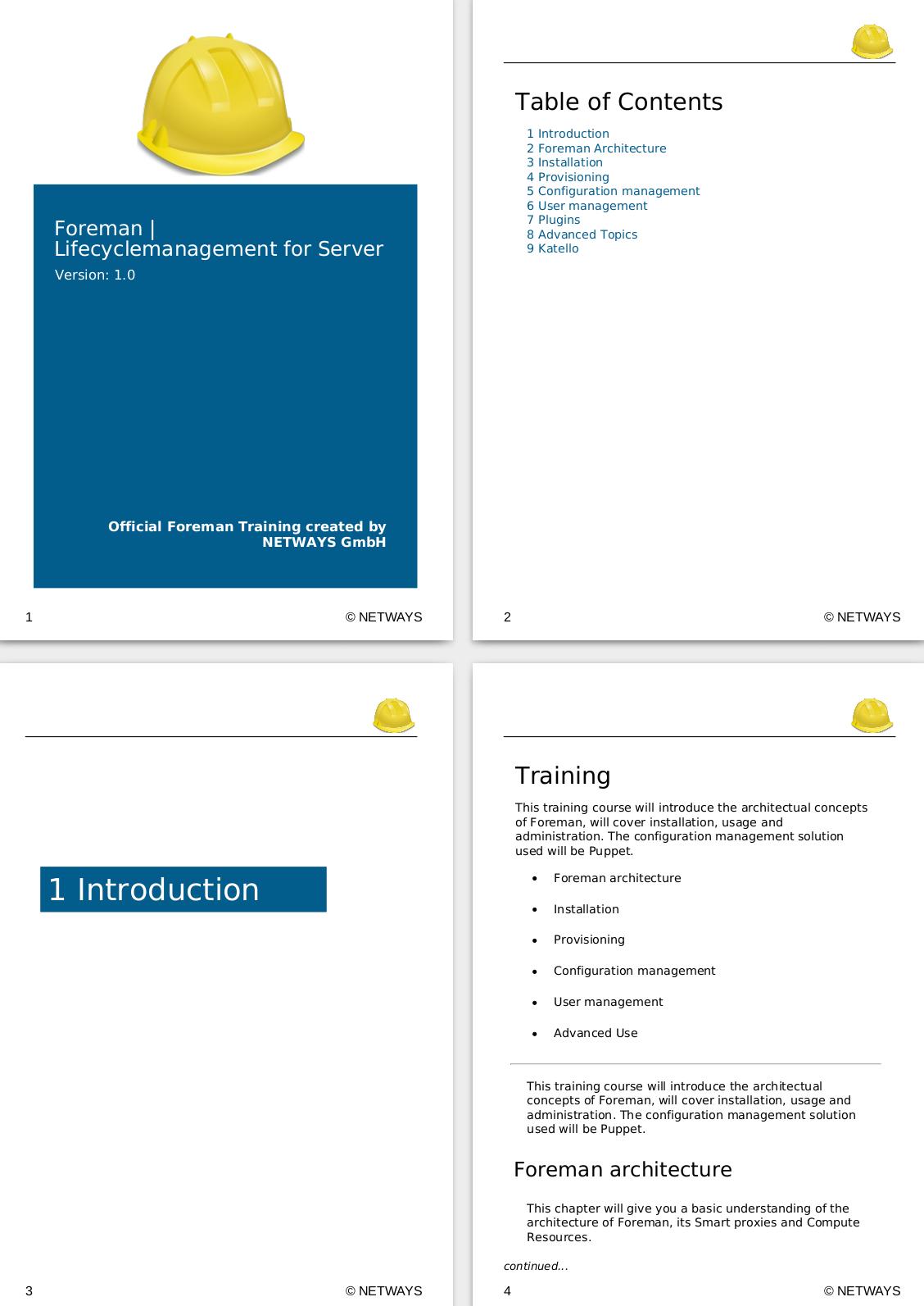 Foreman Training Handout