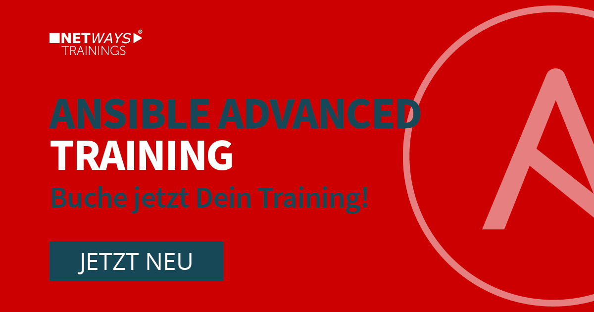 NEU! Ansible Advanced Trainings