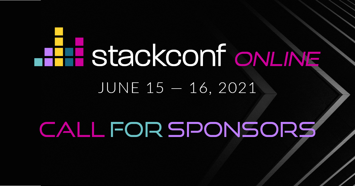 Online stackconf 2021: Call for Sponsors is open!