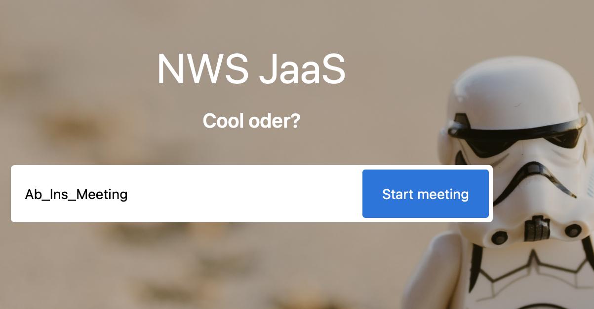 Endlich: Dein NWS JaaS – Jitsi as a Service !