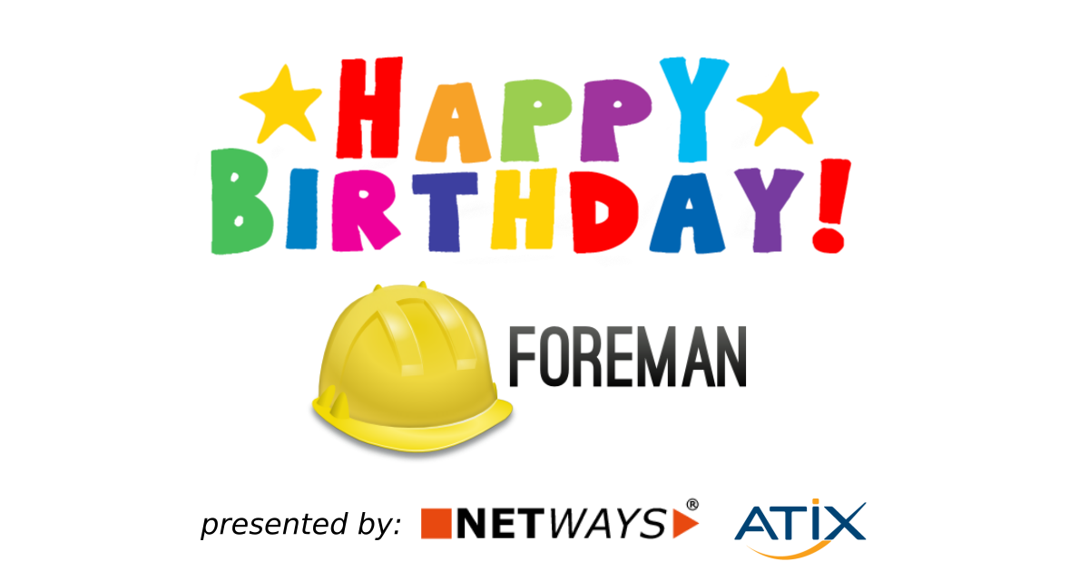 Foreman's 12 birthday – we will have a virtual party