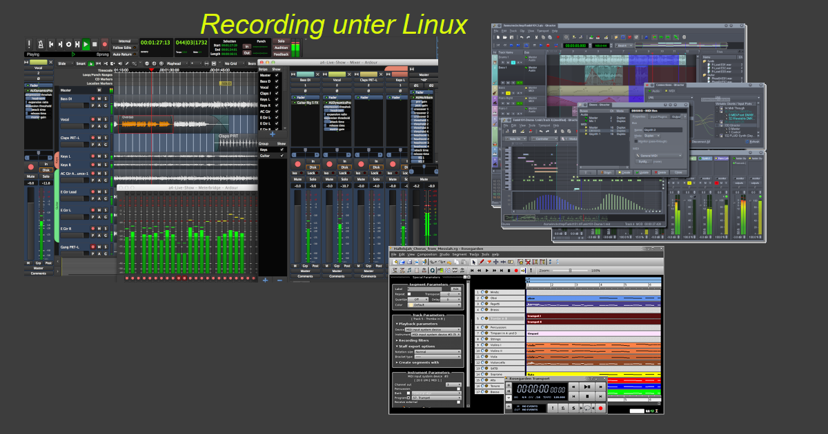 Music Home-Recording unter Linux