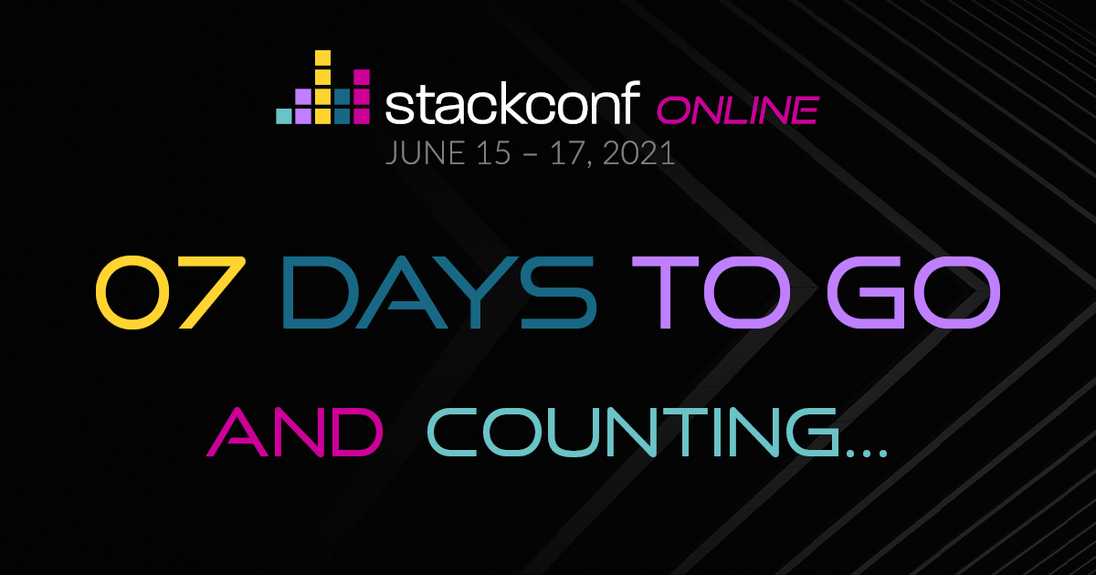 stackconf Countdown – 7 days to go
