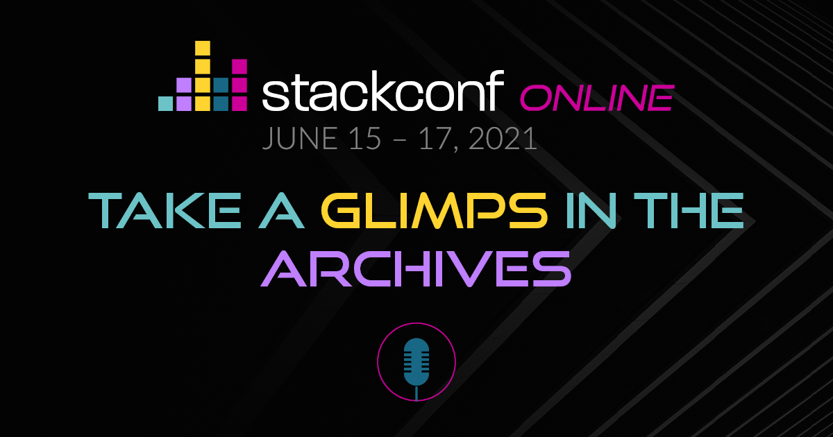 stackconf online 2021: Data Driven Security